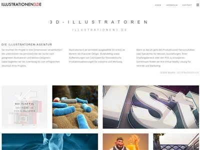 Illustrationen 3D desktop responsive